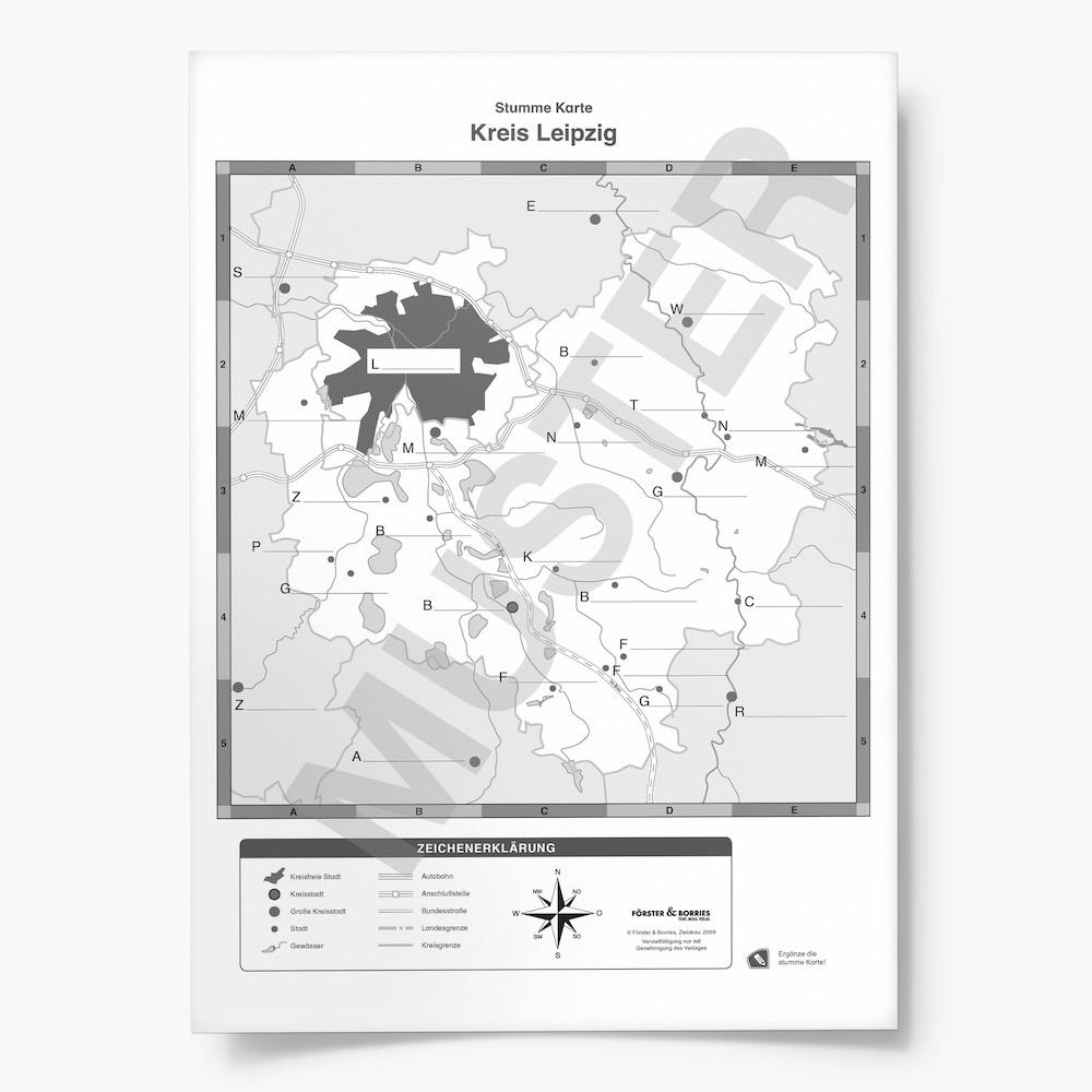Leipzig Karte Sachsen.Der Landkreis Leipzig